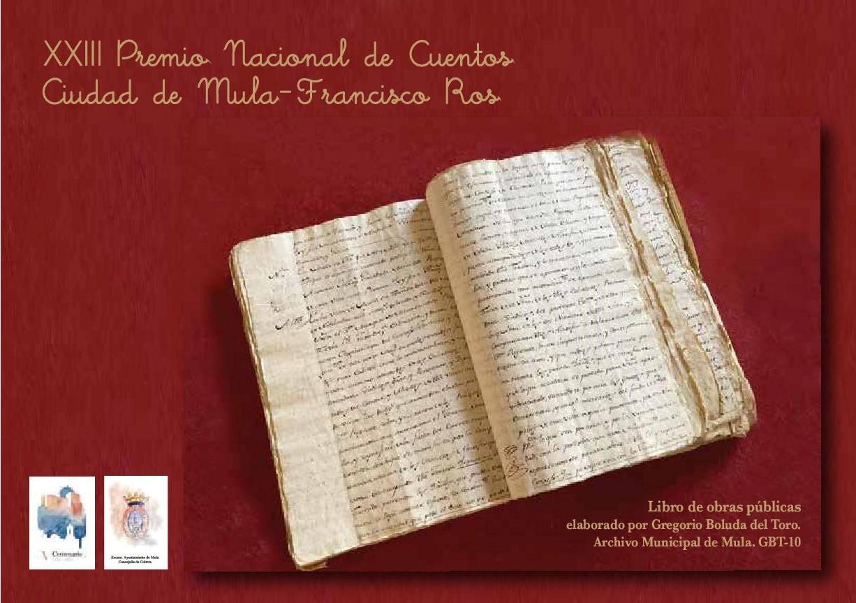 La Concejalía de Cultura del Ayuntamiento de Mula convoca el  Premio Nacional de Cuentos Ciudad de Mula- Francisco Ros.